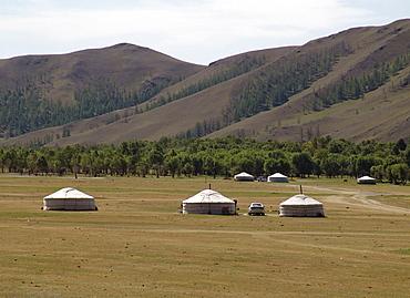 Mongolia gers just outside near ulaan baatar