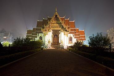 Thai temple on the way to mahabodhi temple. Bodhgaya, india