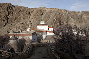 The 11th century monastery complex at Alchi. Within the simple exterior are exceptional murals thought to have been painted by artists from the Kashmir Valley. The murals are considered as some of the world's finest examples of Indo-Tibetan art. Ladakh, India