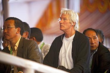 Hollywood actor richard gere attended kalachakra initiation at maha bodhi temple. Bodhgaya, india