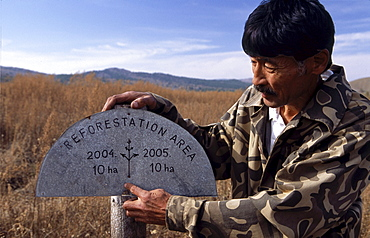 Gonchigjaviin tsedendash is incharge of mongolian forest research foundation. with a mandate to reforest areas effected by environmental mining degradation