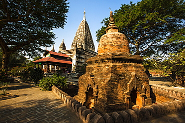 The Mahabodhi Temple, a Buddhist temple built in the mid-13th century, located in Bagan (Pagan), Myanmar (Burma), Asia