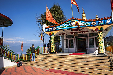 Hanuman Tok, a highly revered and holy temple dedicated to Lord Hanuma (monkey god), located at an altitude of 7200 ft, Sikkim, India, Asia