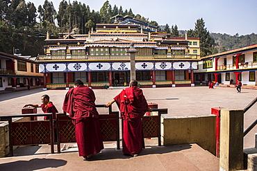 Rumtek Monastery (Dharmachakra Centre) founded by Wangchuk Dorje, 9th Karmapa Lama, Sikkim, India, Asia