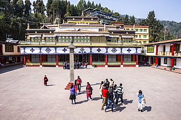 Rumtek Monastery (Dharmachakra Centre), founded by Wangchuk Dorje, 9th Karmapa Lama, Sikkim, India, Asia