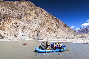 Zanskar River Trip leaving Kharsha, Ladakh, India, Himalayas, Asia