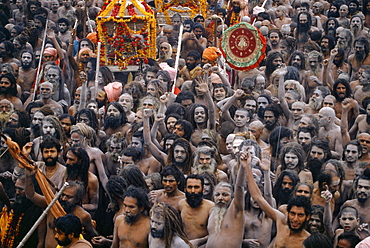 Sadhus rally initiation at ujjain kumbh mela, indi