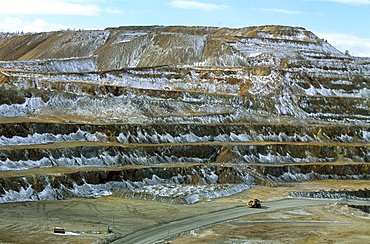 Mongolian-russian mining venture on outskirts of erdenet city, population of 80,000 dictates work as well as life in soviet -style city. 5,200 employees work at this site excavating up to 25.2 million tons of iron year
