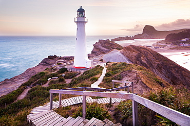 Castlepoint Lighthouse, Castlepoint, Wellington Region, North Island, New Zeland, Pacific