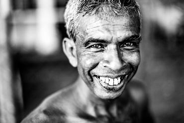 Fisherman, Mirissa, Sri Lanka, Asia