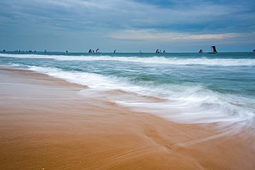 Boats returning to port, Negombo, Sri Lanka, Asia