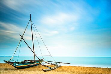 Oruwa, Sri Lankan fishing boat, Negombo, Sri Lanka, Asia