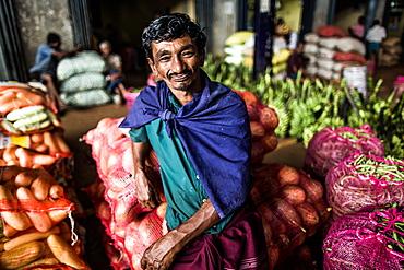 Market seller, Dambulla, Sri Lanka, Asia