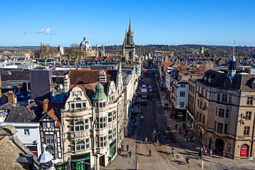 View of Oxford from Carfax Tower, Oxford, Oxfordshire, England, United Kingdom, Europe