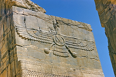 Ahura Mazda, supreme god in Zoroastrianism, Persepolis, UNESCO World Heritage Site, Iran, Middle East