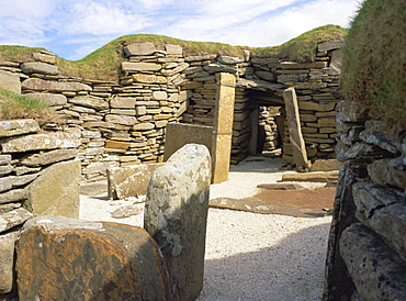 Skara Brae, settlement dating from 3100 to 2500 BC, UNESCO World Heritage Site, Orkney Islands, Scotland, UK, Europe