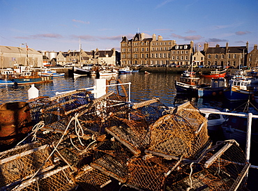 Evening sunlight, Kirkwall harbour, Mainland, Orkneys, Scotland, United Kingdom, Europe