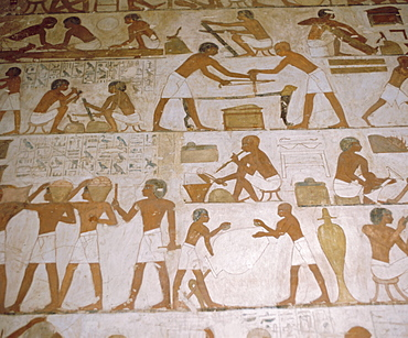 Depictions of everday life, Tomb of Renhuire, Thebes, Egypt