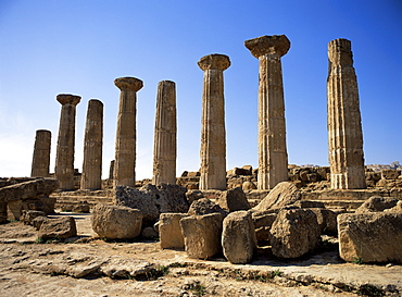 Temple of Heracles (Hercules), dating from 500 BC, Agrigento, Sicily, Italy, Europe