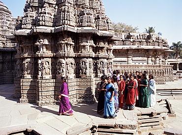 Keshava Temple dedicated to Vishnu, dating from 1268AD in late Hoysala style, Somnathpur, Karnataka state, India, Asia