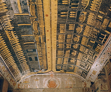 Ramses VI tomb, Valley of the Kings, Thebes, Egypt