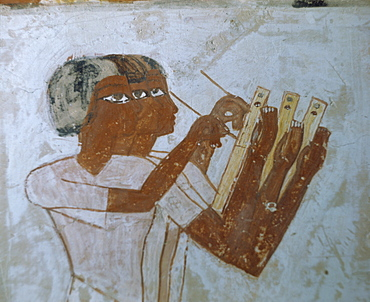 Wall paintings in the tomb of Menna, Thebes, UNESCO World Heritage Site, Egypt, North Africa, Africa
