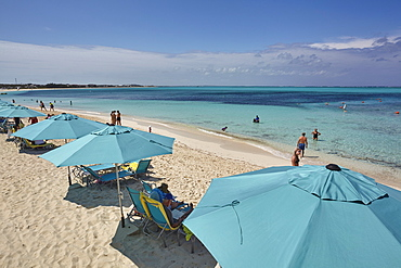 A view of Grace Bay at the Coral Garden Resort and Somewhere Restaurant, Providenciales, Turks and Caicos, in the Caribbean, West Indies, Central America