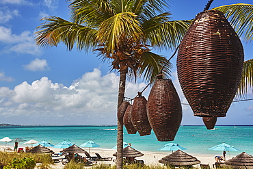 Beachfront at the Sibonne Hotel, on Grace Bay, the most spectacular beach on Providenciales, Turks and Caicos, in the Caribbean, West Indies, Central America