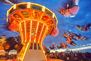 The merry-go-round at Camp Bestival, an annual family-friendly music festival, held in July, Lulworth, Dorset, England, United Kingdom, Europe