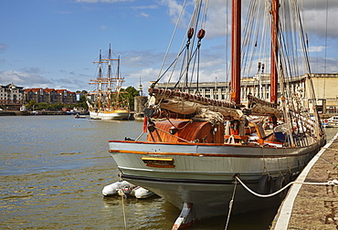 Irene, an old sailing trading ketch in The Docks, Bristol, England, United Kingdom, Europe