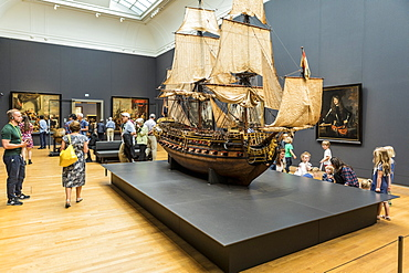 Exhibition hall in the Rijksmuseum, Amsterdam, Netherlands, Europe