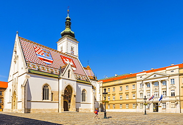 St. Mark's church on Market Square, Government Quarter, Upper Town, Zagreb, Croatia, Europe