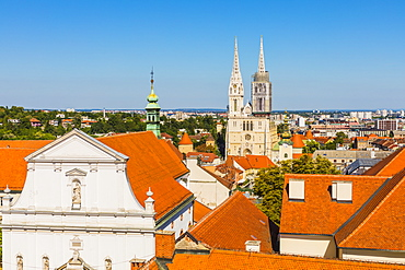View of Cathedral of the Assumption of the Blessed Virgin Mary, Zagreb, Croatia, Europe