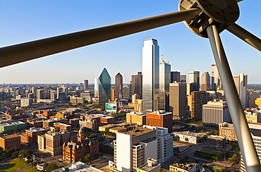 Skyline from Reunion Tower, Dallas, Texas, United States of America, North America