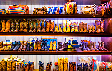 Cowboy boots store inside Caesars Palace Hotel and Casino, Las Vegas, Nevada, United States of America, North America
