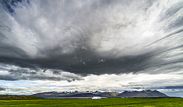 Esjan mountain range, outside Bogarnes, Iceland, Polar Regions