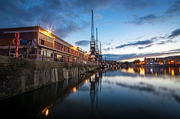 The old electric cranes, Harbourside, Bristol, England, United Kingdom, Europe