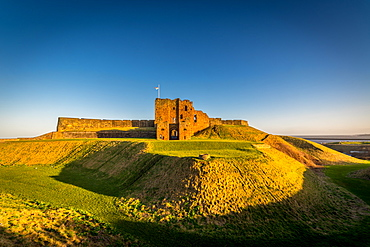 Tynemouth Castle in late afternoon, Tynemouth, Tyne and Wear, England, United Kingdom, Europe
