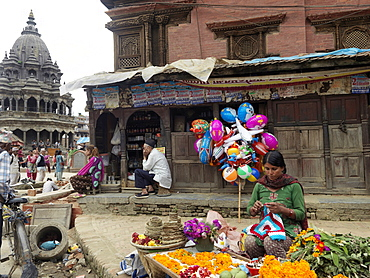 Images from the Royal Palace at Patan in Kathmandu, Nepal, Asia