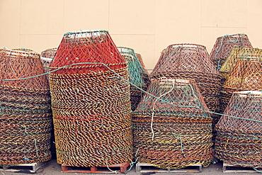 Crab pots (creels), Newfoundland, Canada, North America