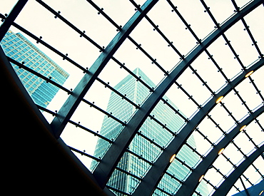 Modern buildings at Canary Wharf, Docklands, London, England, United Kingdom, Europe