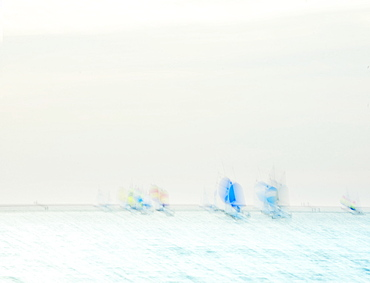 Impression of yachts at sea, United Kingdom, Europe
