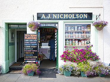 Traditional ice cream shop, Pittenweem, Fife, Scotland, United Kingdom, Europe