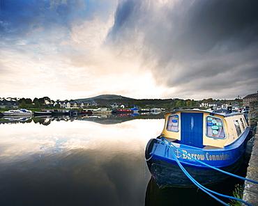 The town of Graignamanagh on the River Barrow, Co Kilkenny, Republic of Ireland, Europe