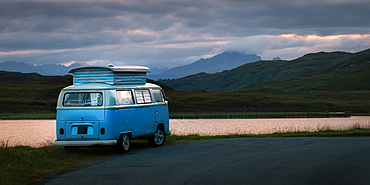 Camper van, Isle of Skye, Inner Hebrides, Scotland, United Kingdom, Europe
