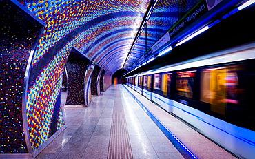 Szent Gellert Ter Metro Station, Budapest, Hungary, Europe