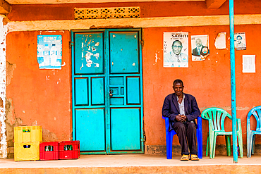 Colorful street life in Uganda, East Africa, Africa