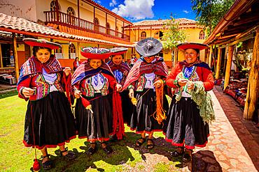 Quechua women of the Chincheros Community, Sacred Valley, Peru, South America
