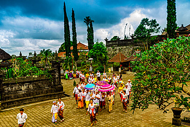 The Besakih Temple, the largest and holiest temple of Hindu religion in Bali, Indonesia, Southeast Asia, Asia
