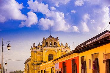 Street view in Antigua, Guatemala, Central America
